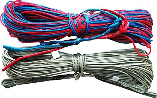 4 X 18m 1000lb 453kg Maelstorm Authentic Quality Kite Line Set with Pigtails Line Connectors for Kitesurfing Kiteboarding Snowboarding