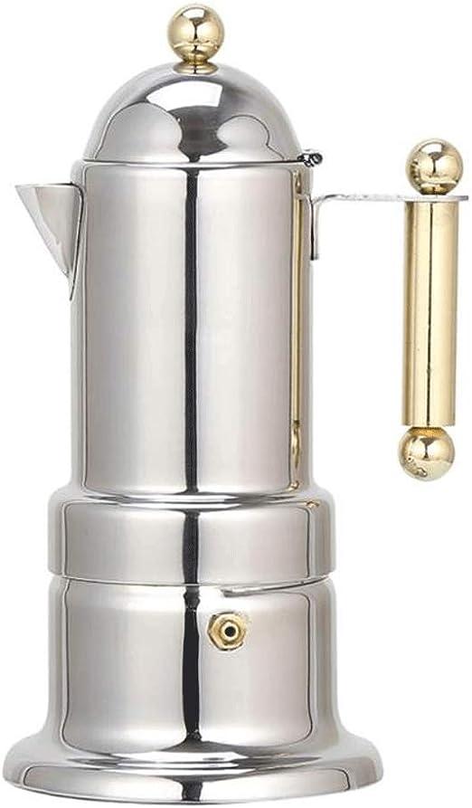 200 ML de Acero Inoxidable Coffee Pot Moka Cafetera Tetera