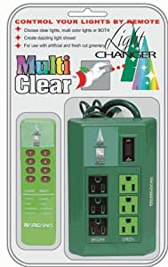 6-Function Remote Control Christmas Light Changer for Incandescent & LED Lights