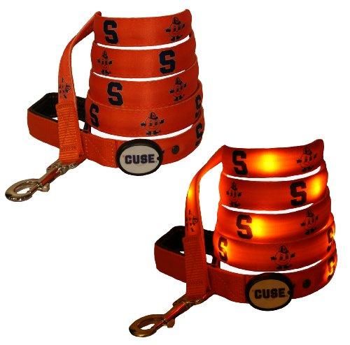 Dog-E-Glow Syracuse University Orange Lighted LED Dog Leash, 6-Feet, My Pet Supplies