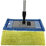 "Microfiber Pocket Mop Kit: 1) Blue 18"" Pocket Mop, 1) Yellow 18"" Pocket Mop, 1) 72"" Aluminum Extension Handle & 1) 16"" Pocket Mop Frame"