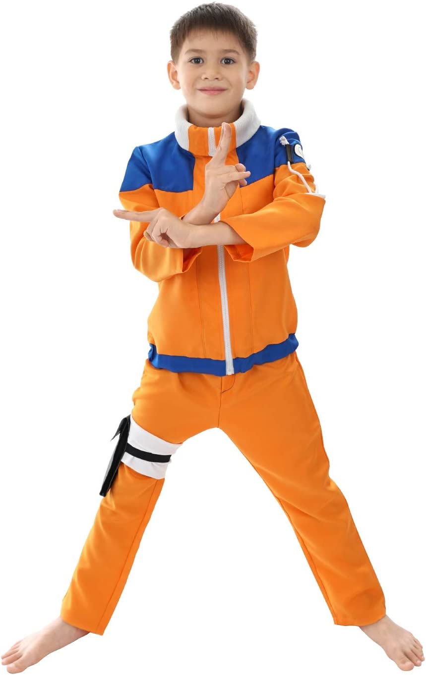 CoolChange Disfraz Genin de Naruto Uzumaki para niños, Talla: 140 ...