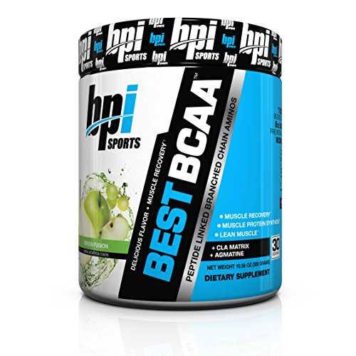 BPI Sports Best BCAA Powder, Green Fusion, 10.58 Ounce