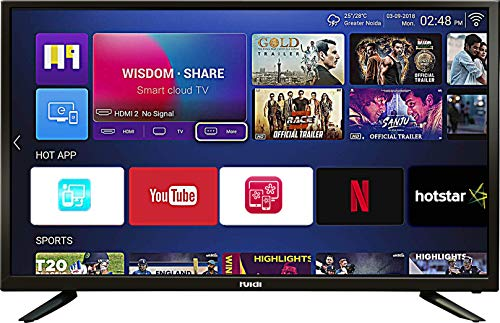 Huidi 102 cm  40 Inches  Full HD Smart LED TV HD42D1M18  Black   2018 Model