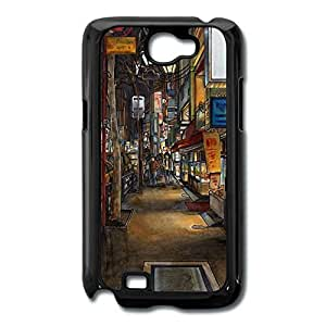 Galaxy Note 2 Cases Painting Street Design Hard Back Cover Shell Desgined By RRG2G