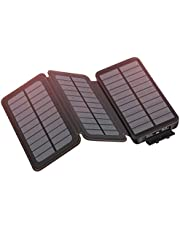 Hiluckey Solar Charger Power Bank Portable Charger Waterproof