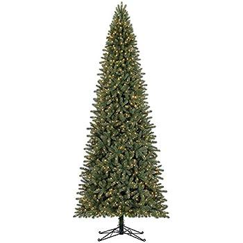 led pre lit artificial fir 12 slim christmas tree one plug lights entire - Slim Christmas Trees