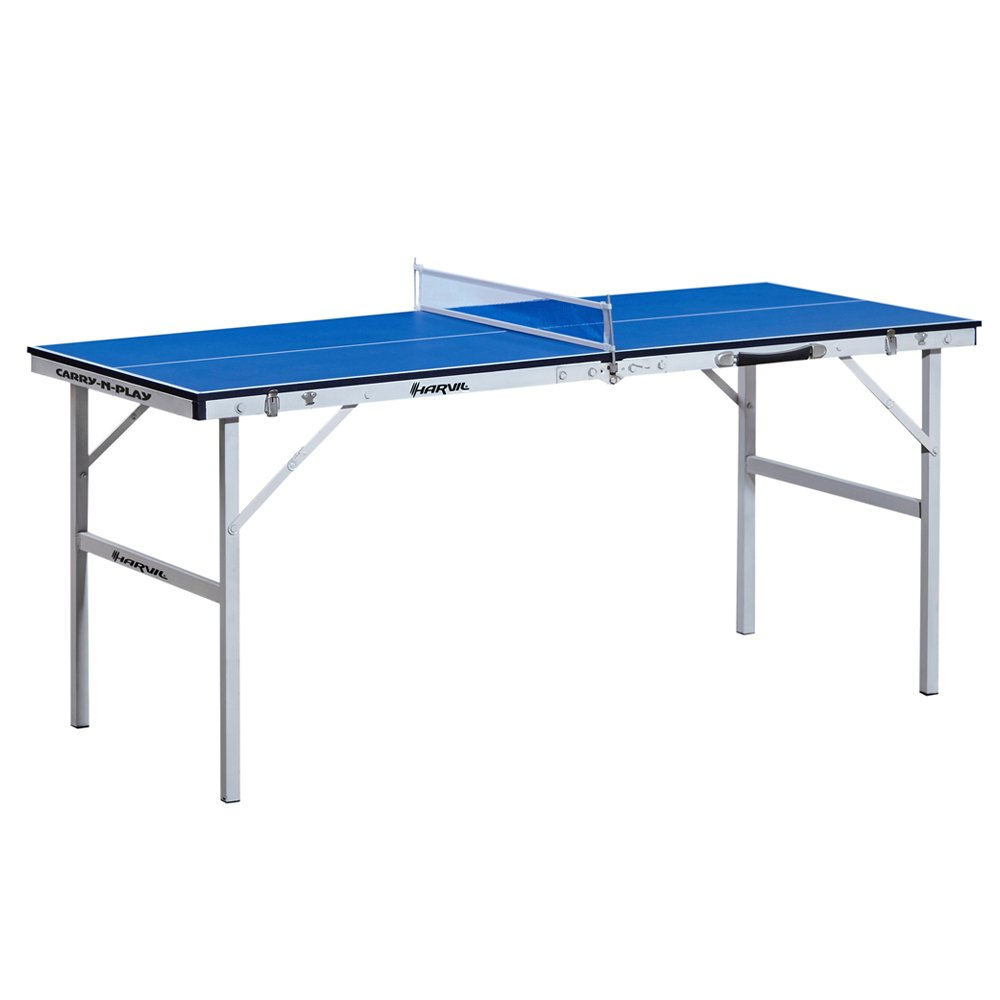 Harvil 60-Inch Folding Portable Table Tennis Table with FREE Accessories