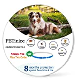 Flea and Tick Prevention for Dogs,Flea Control for Dogs-Prevents,Repels Fleas,Ticks & Lice Waterproof and Adjustable Dog Flea and Tick Control,25 Inches,Blue(New Version)