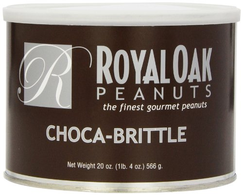 Royal Oak Gourmet Chocolate Covered Peanut Brittle, 20-Ounce Tins (Pack of 2) Peanut Brittle Tin