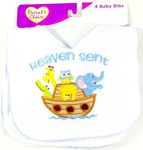 4-Pack Colorful Baby Bibs (Heaven Sent)