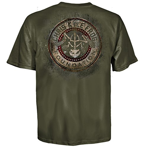 - Chris Kyle Frog Foundation Circle and Stars Military Green T-shirt (Adult Small)