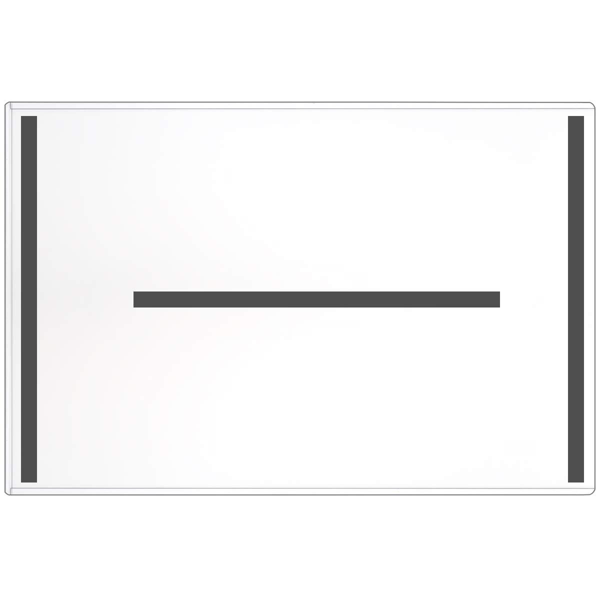 """StoreSMART - Magnetic-Back Rigid Holder/Frame - 11"""" x 17"""" - 10-Pack - Refrigerator or Locker Magnet - Top Loaders - HPP11X17M-10"""