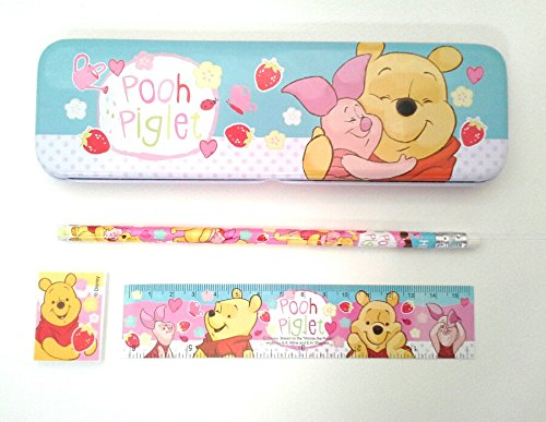 (Disney Winnie the Pooh and Piglet Cute Stationery Set (Pink))