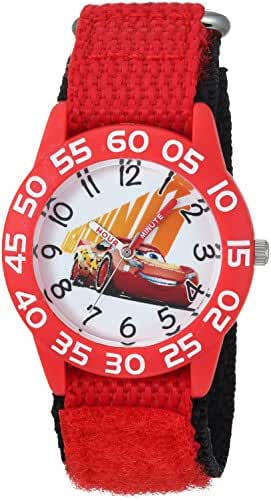 Disney Boy's 'Cars 3' Quartz Plastic and Nylon Casual Watch, Color:Red (Model: WDS000293)