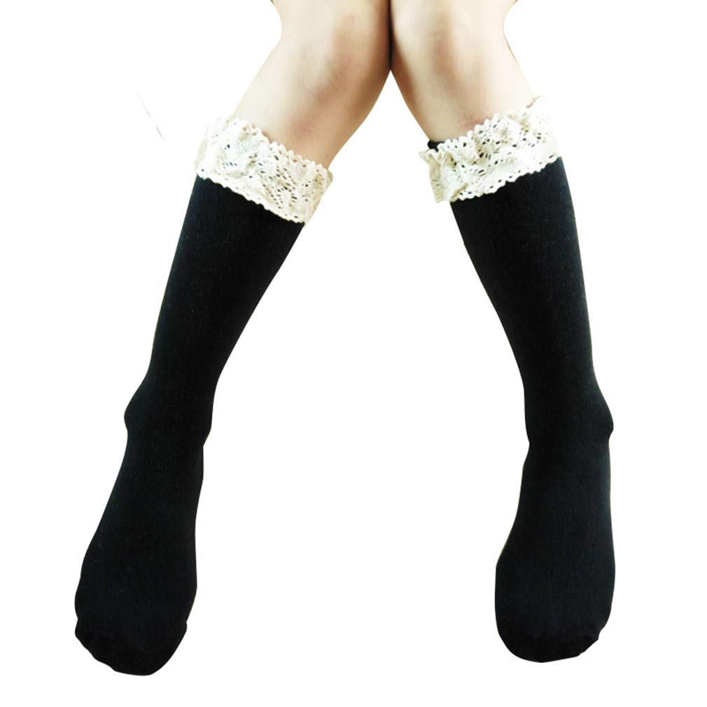 YESMAEA Baby Girls Bow Socks Toddlers Bow Cotton High Socks Princess Leg Warmers Socks,Pink
