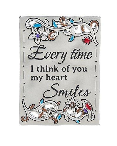 Ganz Inspirations Family Grateful Heart Mini Message Plaque Magnet Smile-ER59725