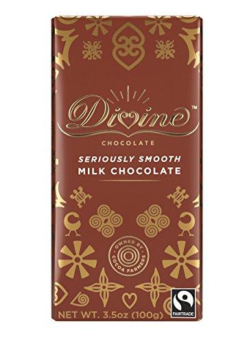 Divine Chocolate Bar, Milk Chocolate, 3.5 Ounce (Pack of 10)