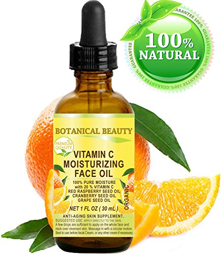 VITAMIN C Moisturizing Face Oil. 20% Vitamin C Red Raspberry