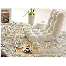 Home Adjustable Memory Foam Floor Chair Sofa Recliner Lounge (White)