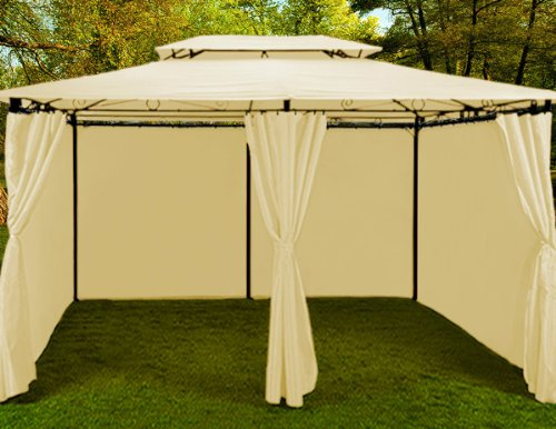 Jard n gazebo 4x3 gazebo topas color beige met lico gazebo for Gazebo 4x3 amazon