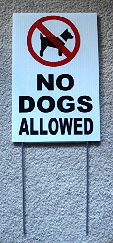 1Pc Leading Popular No Dogs Allowed Sign Warning Message Outdoor Declare Plastic Coroplast Size 8