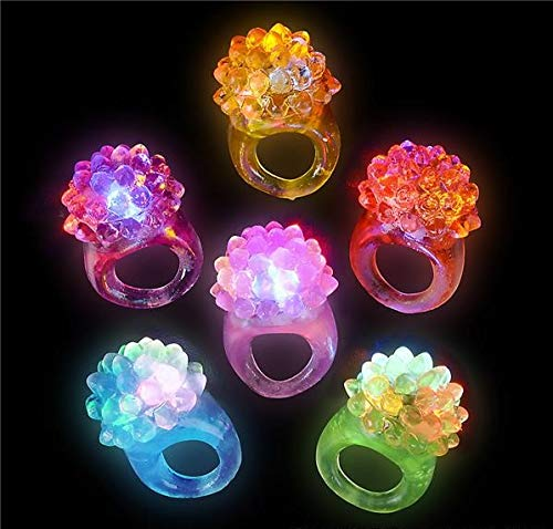 Rhode Island Novelty Light-up Bumpy Rings | Pack of 36 -