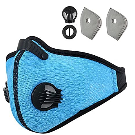 Amazon.com : Otato Dust Mask Activated Carbon Dustproof Mask with Earloop Adjustable Velcro, Extra Filter Cotton Sheet and Valves for Cycling, Exhaust Gas, ...