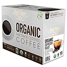 Barrie House Organic Espresso Roast Single Cup Capsule, 24 Count