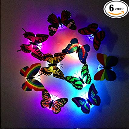 Gbell 6 Pcs Butterfly LED Night Lights Wall Stickers for Baby Toddlers  Girls Kids Adults Bedroom Decor,for Bars/Cafes/Restaurants/Wedding/Party ...