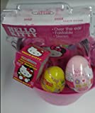 Hello-Kitty-Easter-Gift-Basket-Over-The-Ear-Headphones-Stickers-and-Assortment-of-Candy-Bundle
