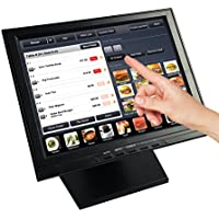 Angel High Resoution 12 Touch Screen POS TFT LED TouchScreen Monitor with Adjustable POS Stand for Retail Restaurant Bar Pub Kiosk