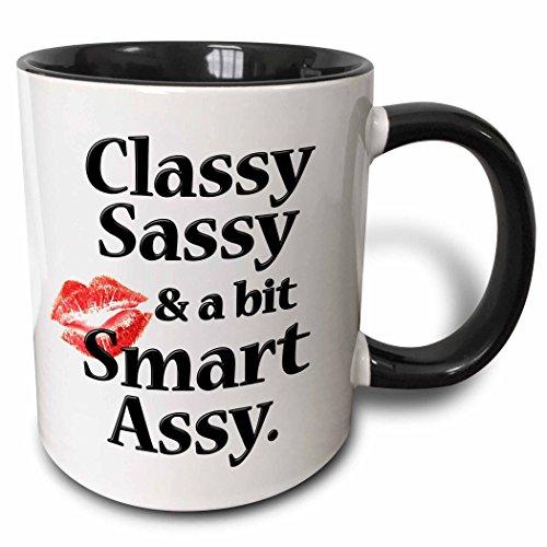 3dRose 171886_4 Classy Sassy And A Bit Smart Assy Two Tone Mug 11 oz Black from 3dRose