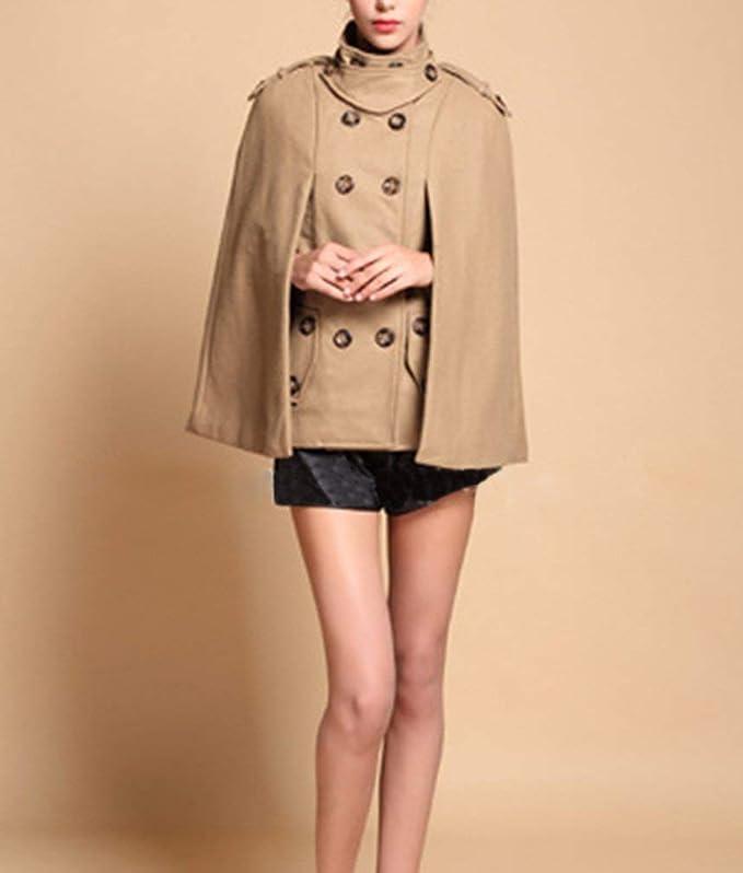 Poncho Fashion Col Debout Automne Hx Elégante Printemps Femme Double CxtsdhrQB