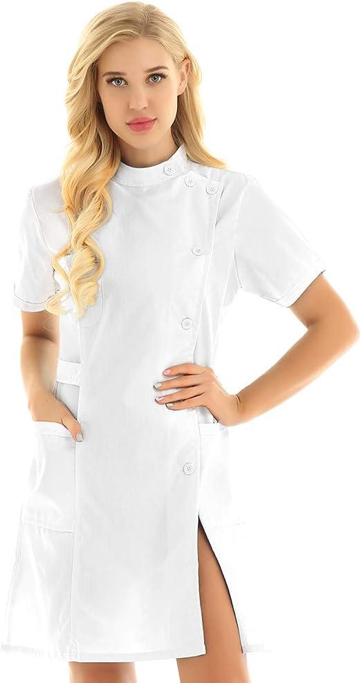 Nurse Uniforms, scrub set, mandarin collar lab coat
