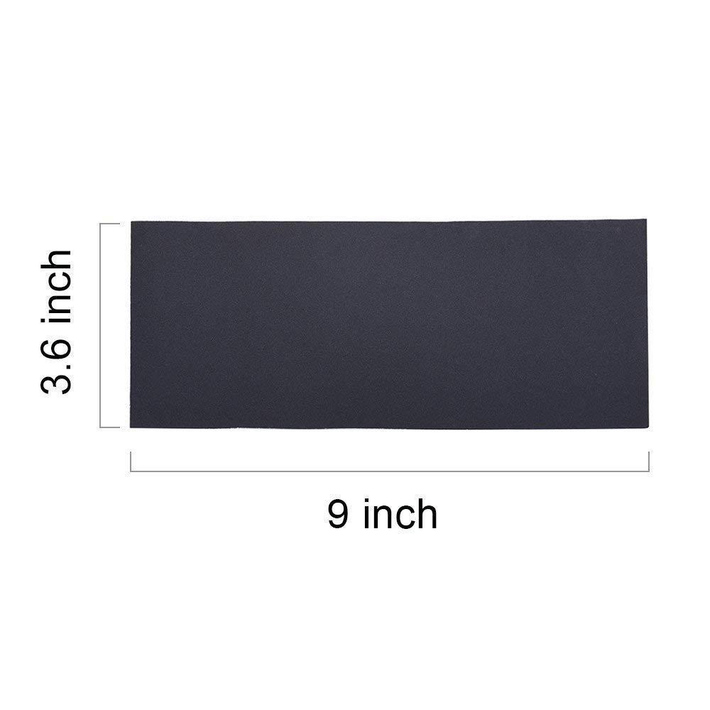 impermeable Ogquaton Abrasivo hojas de papel de lija grano clasificado de 400//600//800//1000//1200//1500 para muebles h/úmedo seco