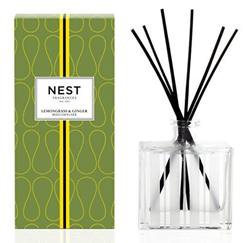Lemongrass Scent - NEST Fragrances Reed Diffuser- Lemongrass & Ginger , 5.9 fl oz