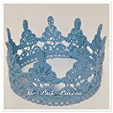 The Posh Princess Baby Boy Photo Prop Newborn Blue Crown, Any Color/Size