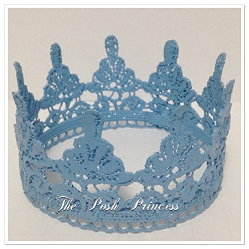 The Posh Princess Baby Boy Photo Prop Newborn Blue Crown, Any Color/Size