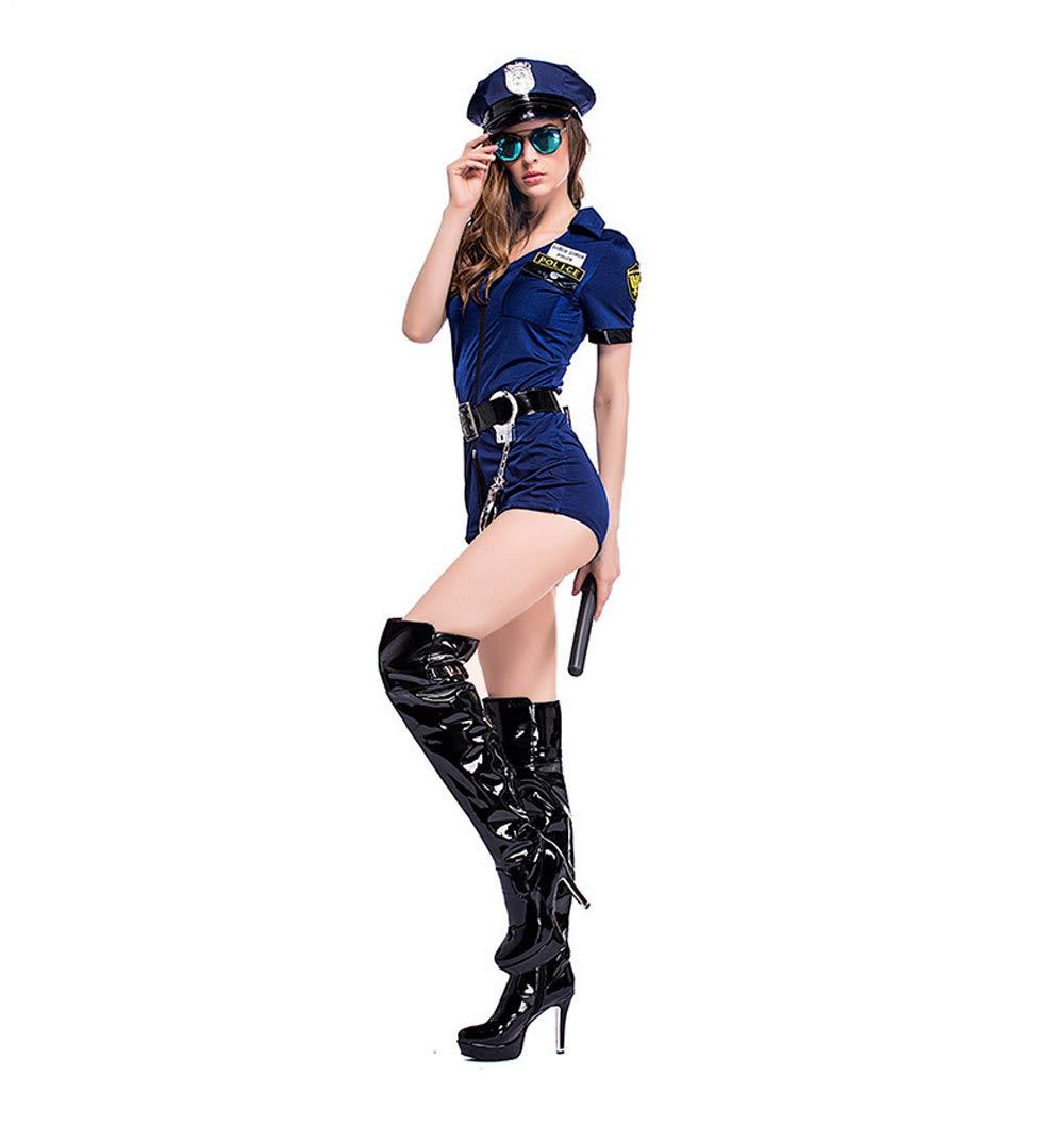 XINXIN Spaßzug Dunkelblauer Rock Reißverschluss Weibliche Polizeiuniform Halloween Spaßzug XINXIN 8a8b1a