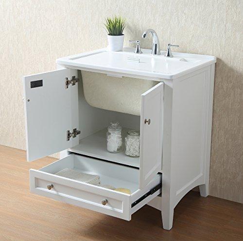 Stufurhome GM-Y01W 30.5-Inch Pure White Single Laundry Sink by Stufurhome (Image #6)