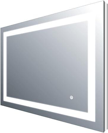 The Bath People Ferrite Two-Tone LED Bathroom Mirror CE IP44 80x60cm