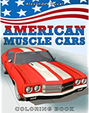 American Muscle Cars Coloring Book