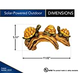 Moonrays 91515 Solar-Powered Outdoor LED Light Garden Décor, Turtles on a Log