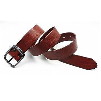 Styhatbag Cinturón de Hombre Cinturones de Vestir para Hombres Cuero  Genuino Caja de Regalo de Hebilla Ancha de aleación de 1.5