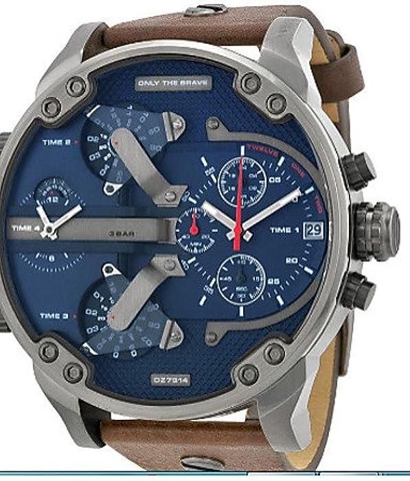 Nuevos Arrivi DZ relojes de hombre de alta calidad digital Sport Guardare relojes de cuarzo militares dz7314 rejoles Montre Homme, Brown