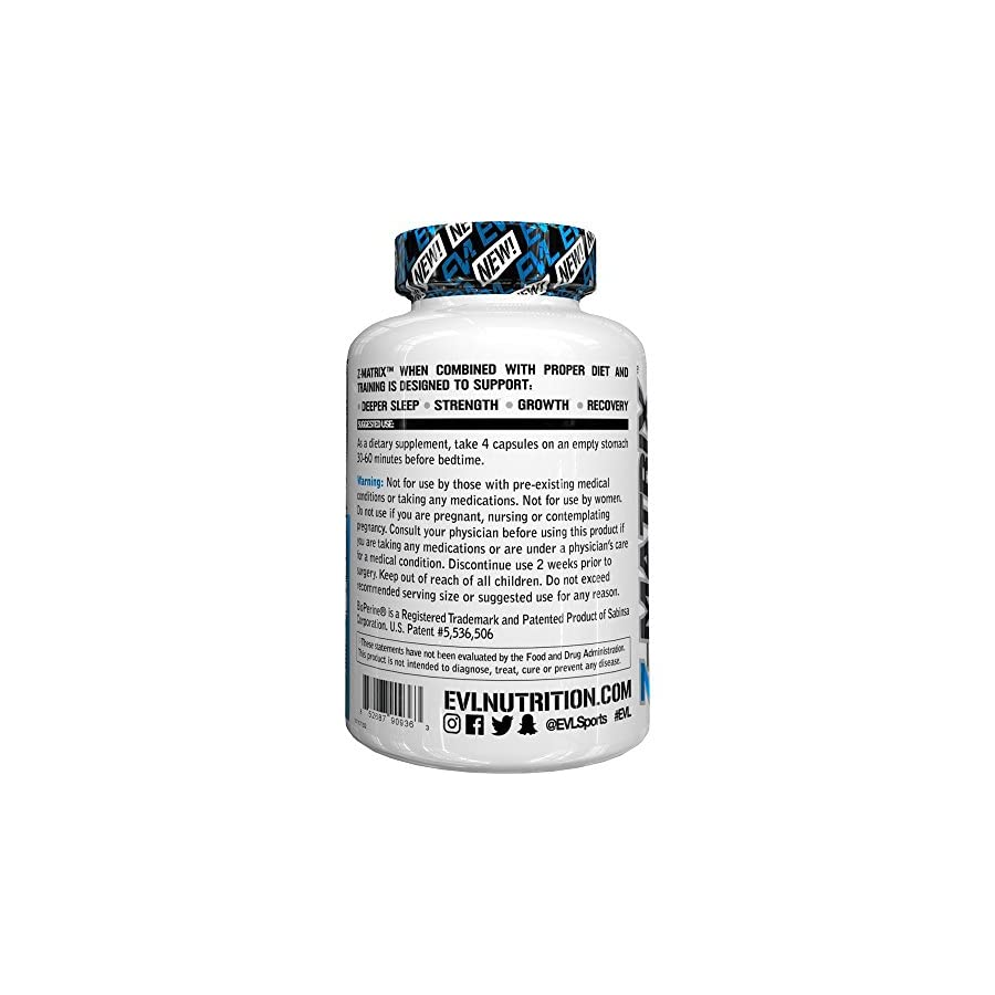 Evlution Nutrition Z Matrix Nighttime Recovery and Sleep Support