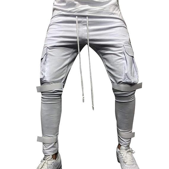 ♚ Pantalones de Bolsillo de los Hombres Guardapolvos babd6c9b5ee4