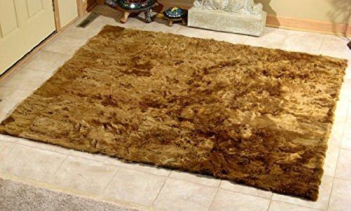 Suri Baby Alpaca Fur Rug. Brown colour. Home decor. Soft rug (4.5ft (Baby Alpaca Rug)