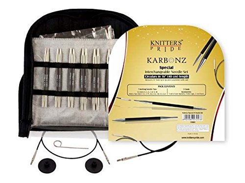 Knitter-s Pride Karbonz Interchangeable Sets & Tips, Special Set 16'' by Knitter's Pride
